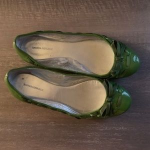 Banana Republic Green Patent Leather Shoes